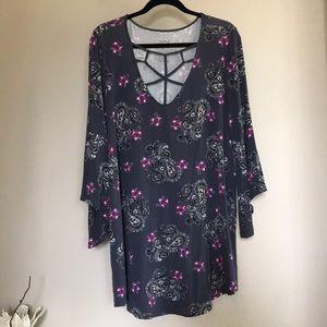 Torrid plus size super soft knits floral blouse 2X